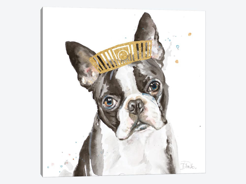 French Bulldog With Crown by Patricia Pinto 1-piece Canvas Artwork