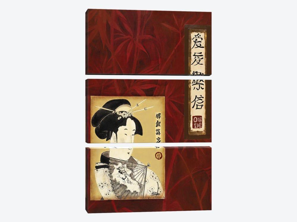 Geisha I by Patricia Pinto 3-piece Canvas Art Print