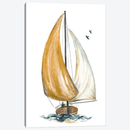 Gold Sail I Canvas Print #PPI697} by Patricia Pinto Canvas Artwork