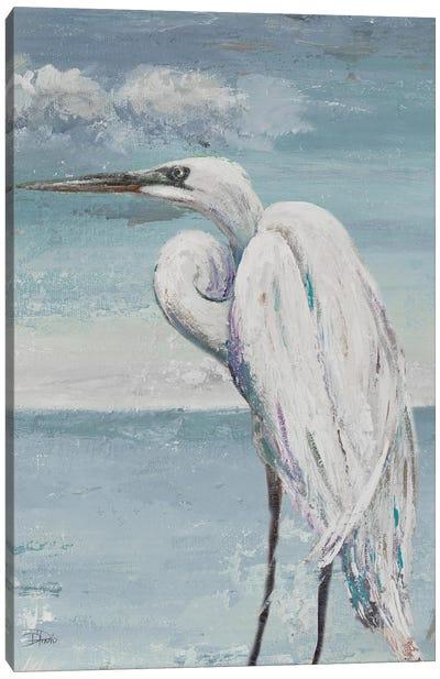 Great Egret Standing Canvas Art Print