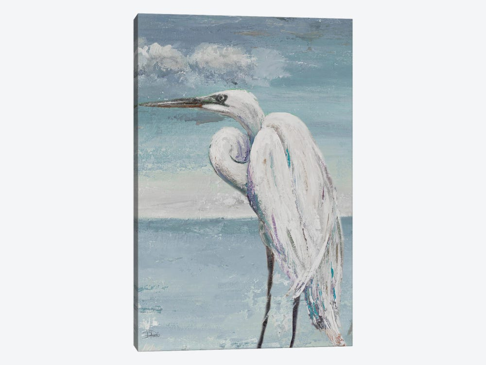 Great Egret Standing by Patricia Pinto 1-piece Canvas Wall Art