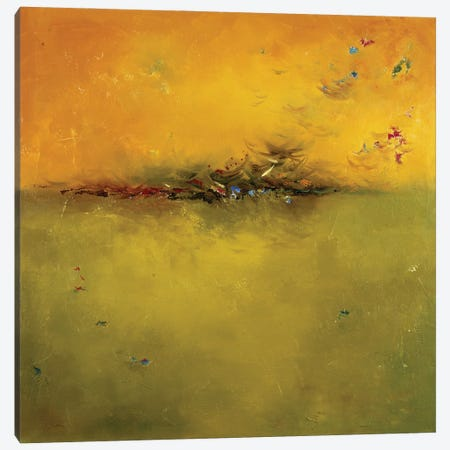 Green Sunset Canvas Print #PPI701} by Patricia Pinto Art Print