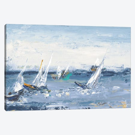 Blue Water Adventure Canvas Print #PPI70} by Patricia Pinto Canvas Artwork
