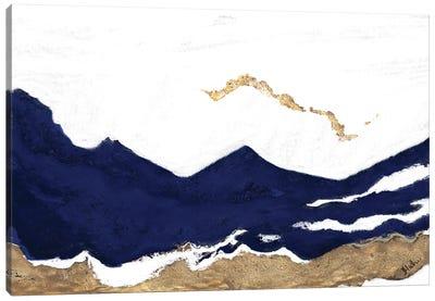 Navy and Gold Tierra II Canvas Art Print