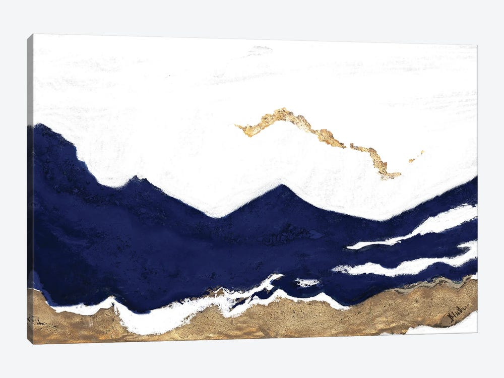 Navy and Gold Tierra II by Patricia Pinto 1-piece Canvas Print