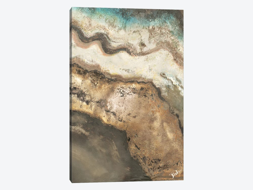 Neutral Tierra Rectangle II by Patricia Pinto 1-piece Canvas Art Print