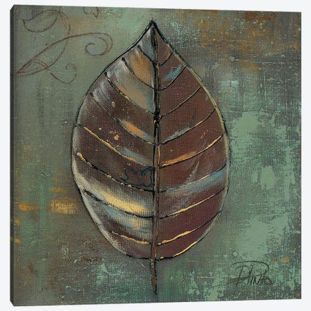 New Green Leaf Canvas Print #PPI718} by Patricia Pinto Canvas Wall Art