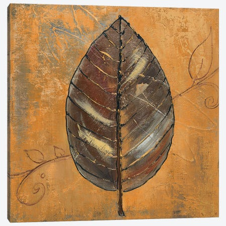 New Leaf III (Yellow) Canvas Print #PPI719} by Patricia Pinto Canvas Artwork