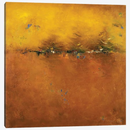 Orange Sunset Canvas Print #PPI724} by Patricia Pinto Canvas Wall Art