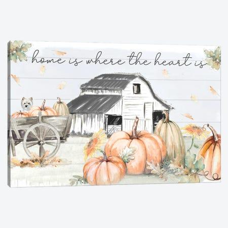 Pumpkin Barn Canvas Print #PPI728} by Patricia Pinto Canvas Art Print