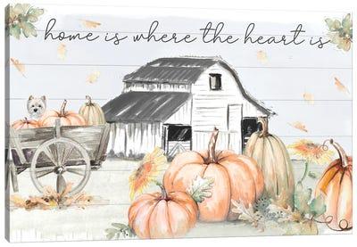 Pumpkin Barn Canvas Art Print