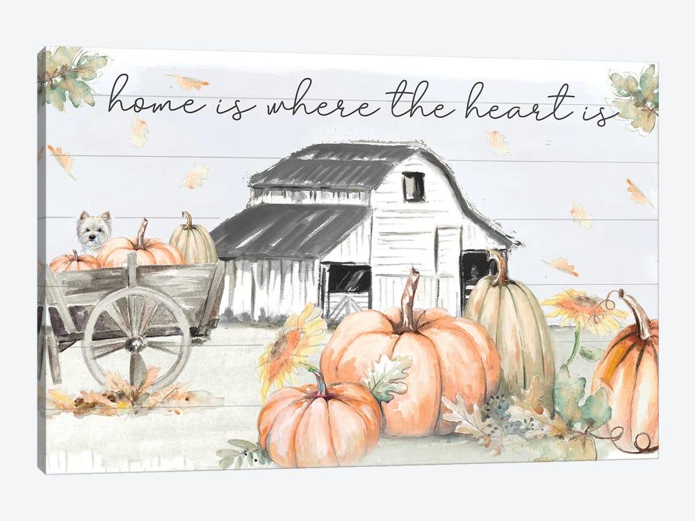 Pumpkin Barn by Patricia Pinto 1-piece Canvas Artwork