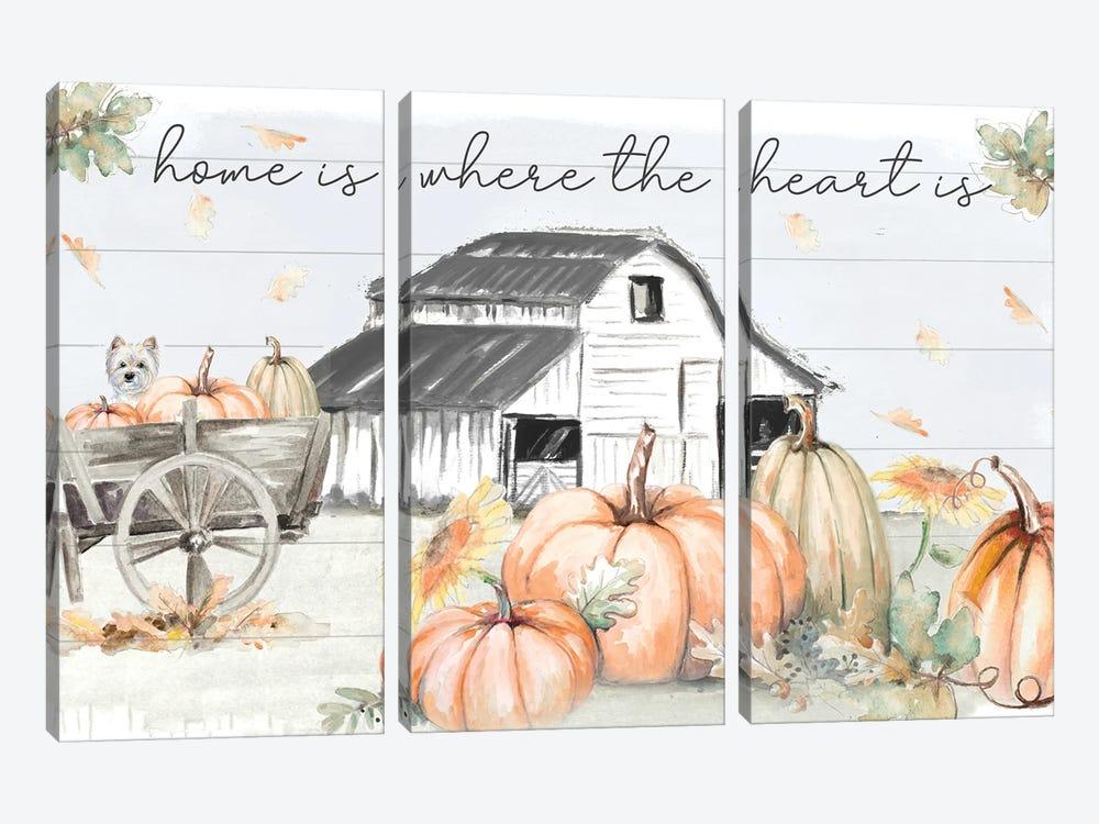 Pumpkin Barn by Patricia Pinto 3-piece Canvas Art