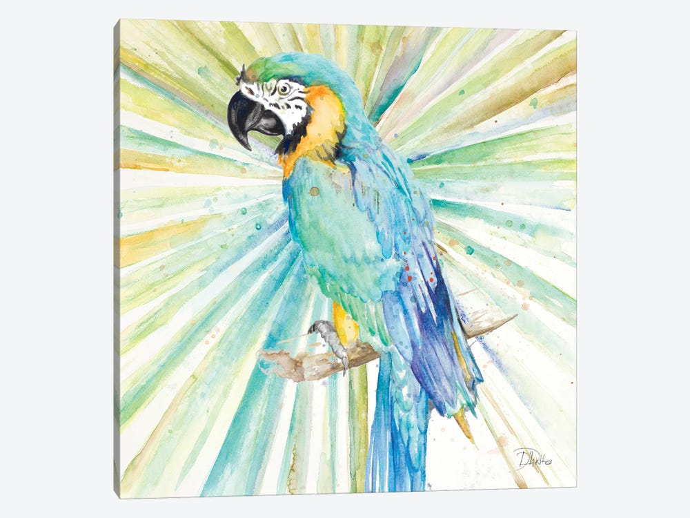 Bright Tropical Parrot by Patricia Pinto 1-piece Canvas Wall Art