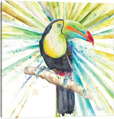 Bright Tropical Toucan Canvas Art Print