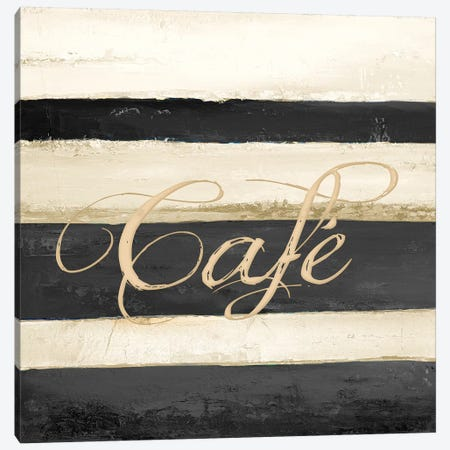 Cafe Canvas Print #PPI82} by Patricia Pinto Canvas Print