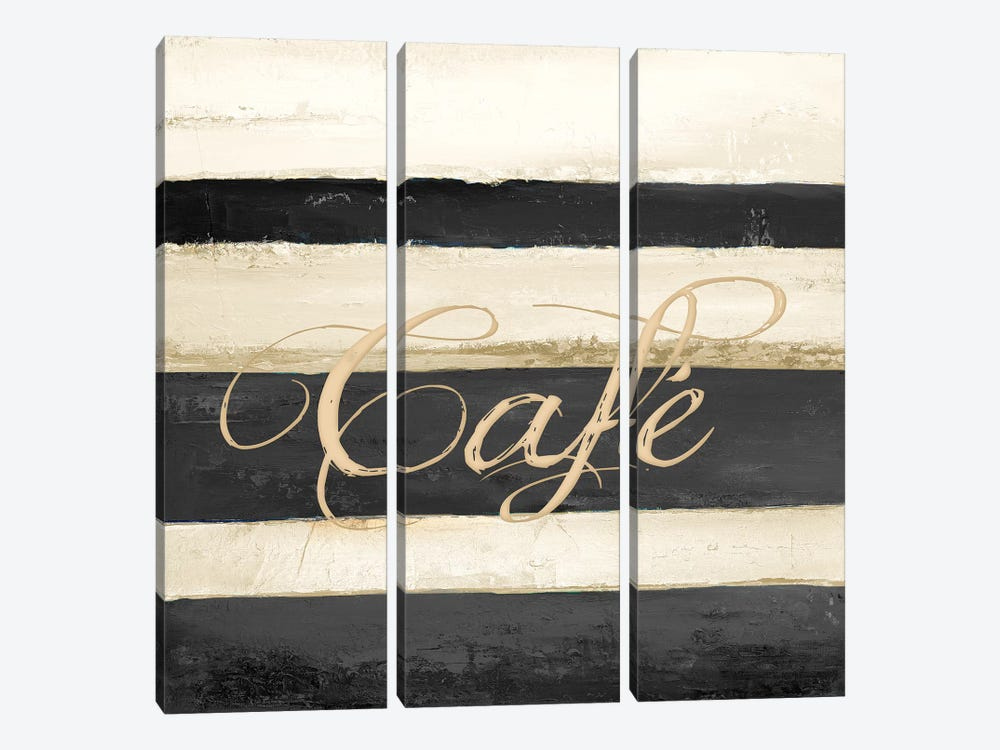 Cafe by Patricia Pinto 3-piece Canvas Wall Art