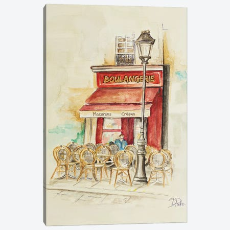 Cafe Du Paris I Canvas Print #PPI83} by Patricia Pinto Canvas Print