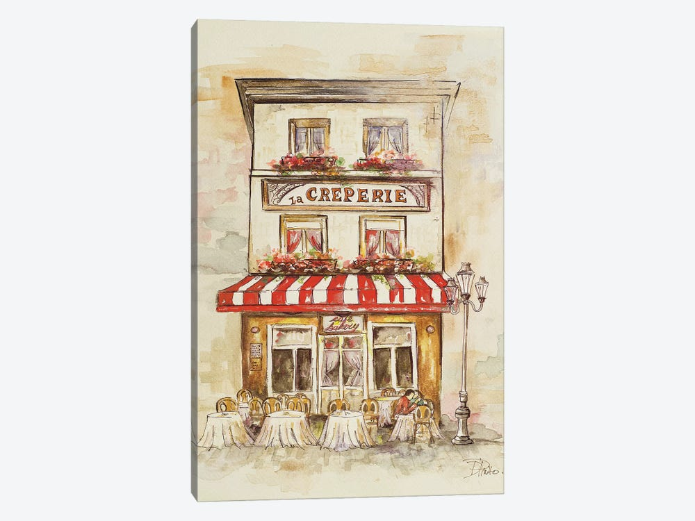 Cafe du Paris II by Patricia Pinto 1-piece Canvas Art