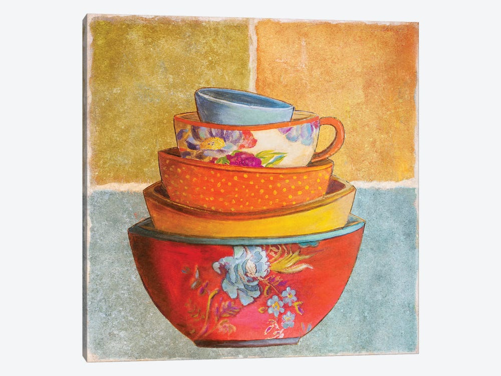 Collage Bowls I by Patricia Pinto 1-piece Art Print