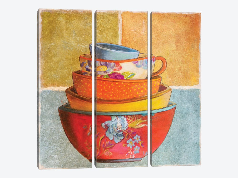 Collage Bowls I by Patricia Pinto 3-piece Art Print