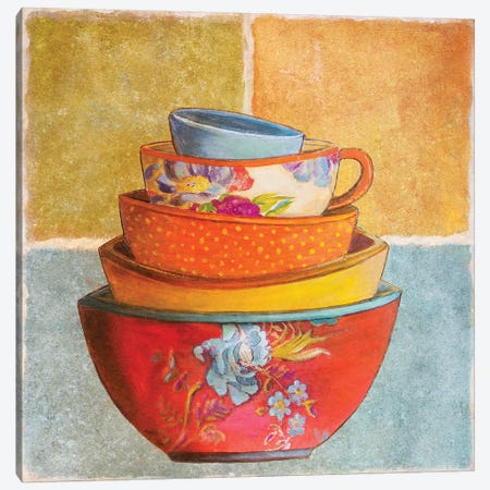 Collage Bowls I Canvas Print #PPI92} by Patricia Pinto Canvas Wall Art