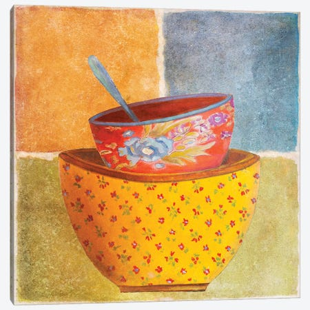 Collage Bowls II Canvas Print #PPI93} by Patricia Pinto Canvas Wall Art