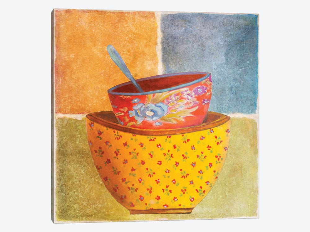Collage Bowls II by Patricia Pinto 1-piece Canvas Wall Art