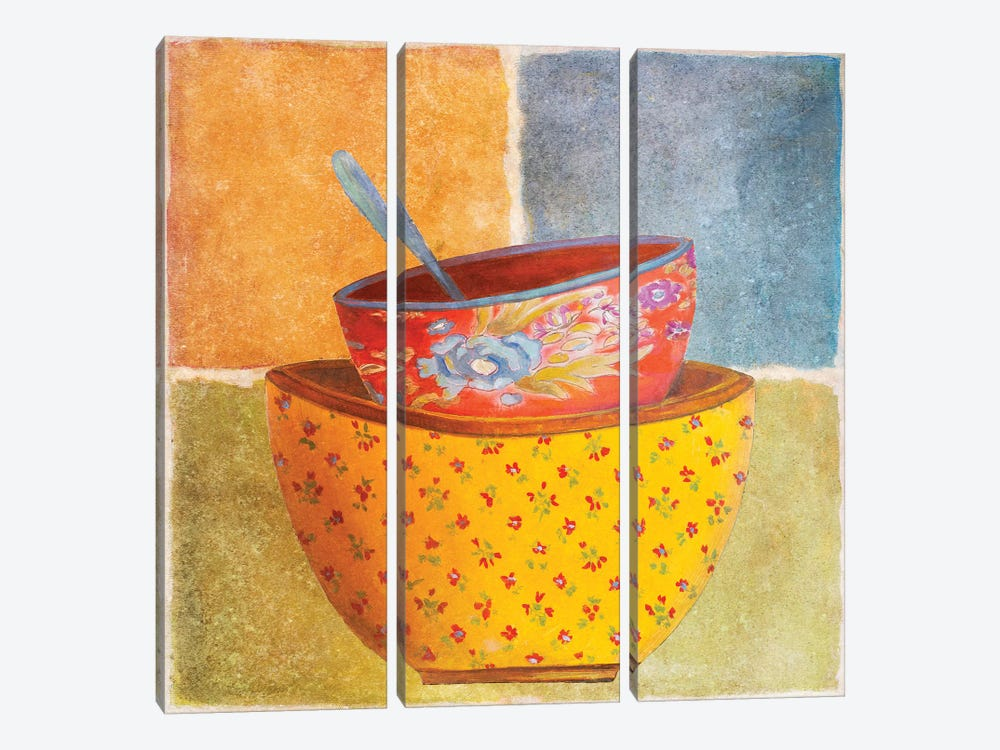Collage Bowls II by Patricia Pinto 3-piece Canvas Art