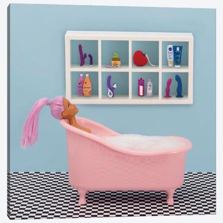 Fun At Bath Time Canvas Print #PPM21} by Pepino de Mar Canvas Art Print