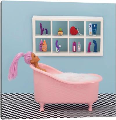 Fun At Bath Time Canvas Art Print