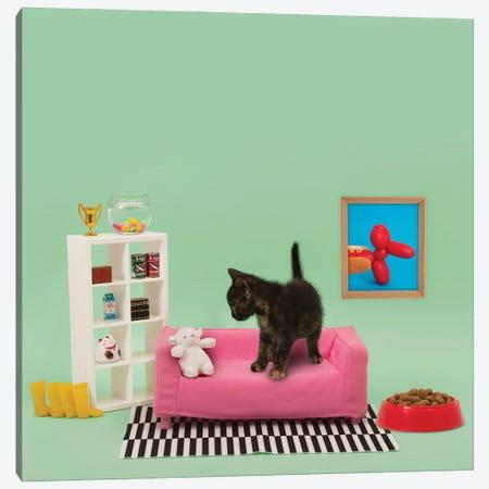 Kitty's Home Canvas Print #PPM34} by Pepino de Mar Art Print