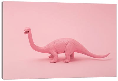 Pink Dino Canvas Art Print