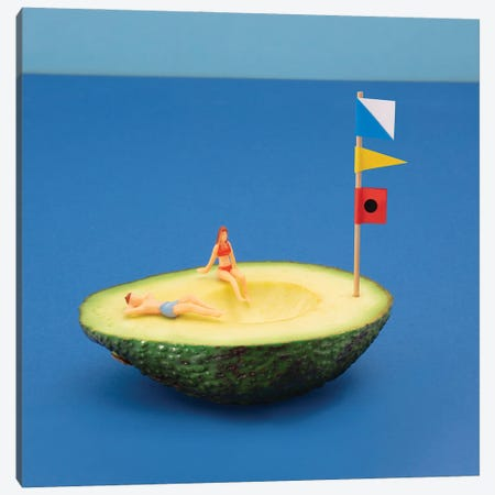 Avocado Boat Canvas Print #PPM3} by Pepino de Mar Canvas Art Print