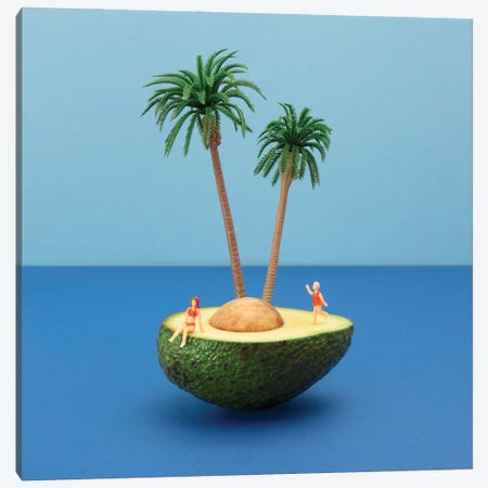 Avocado Island Canvas Print #PPM4} by Pepino de Mar Canvas Wall Art