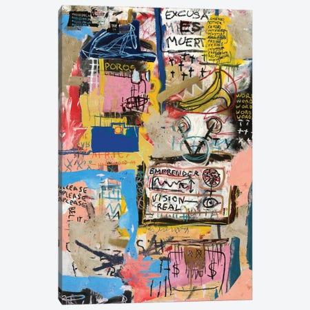 Emprender Canvas Print #PPP13} by PinkPankPunk Art Print