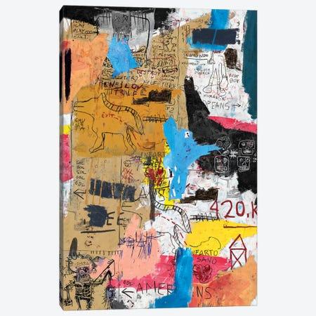 King King Canvas Print #PPP14} by PinkPankPunk Canvas Artwork