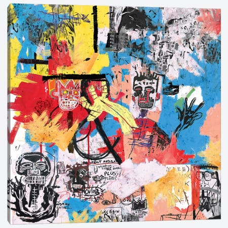 57 Great Jones Street Canvas Print #PPP1} by PinkPankPunk Canvas Art Print