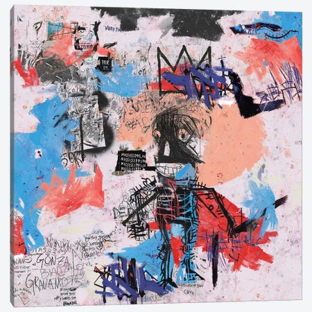 Samo Is Alive Canvas Print #PPP22} by PinkPankPunk Canvas Artwork