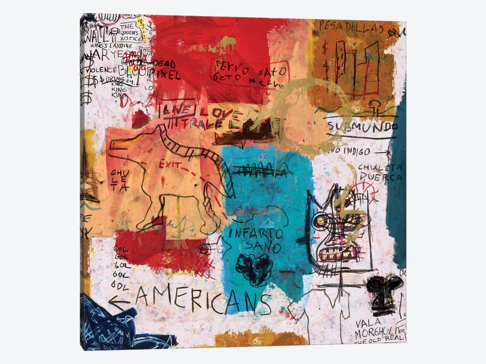 Por Onga by PinkPankPunk 1-piece Canvas Art Print