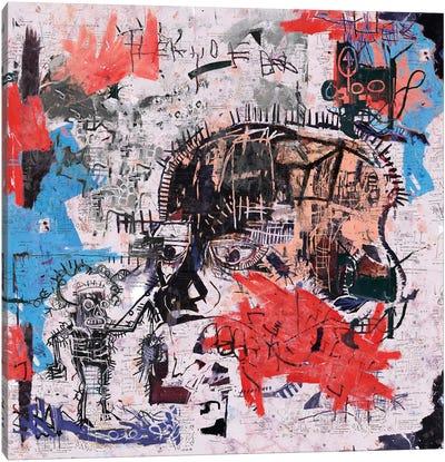 Basquiat Style I Canvas Art Print