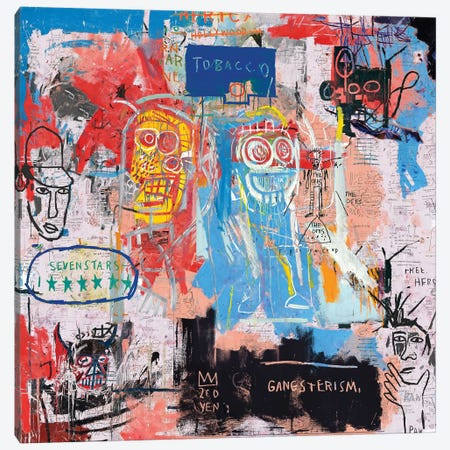 Basquiat Style II Canvas Print #PPP5} by PinkPankPunk Canvas Artwork