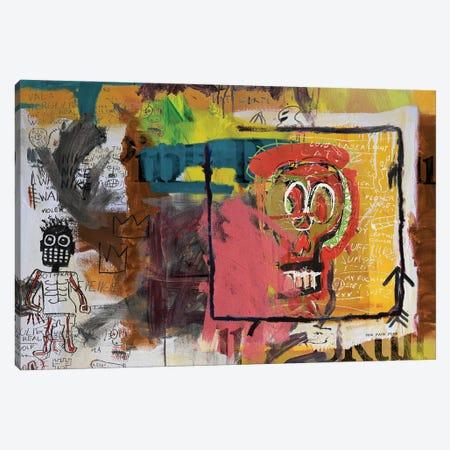 Skull Head Canvas Print #PPP61} by PinkPankPunk Canvas Art