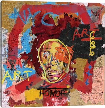 Basquiat The One Canvas Art Print