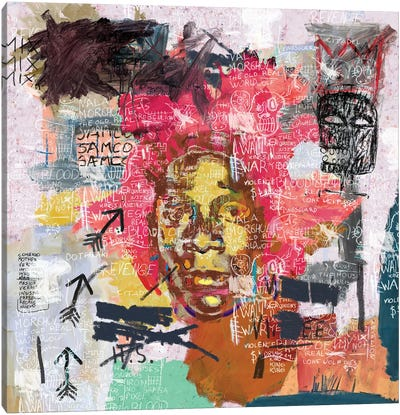 Jean-Michel Basquiat Portrait Canvas Art Print