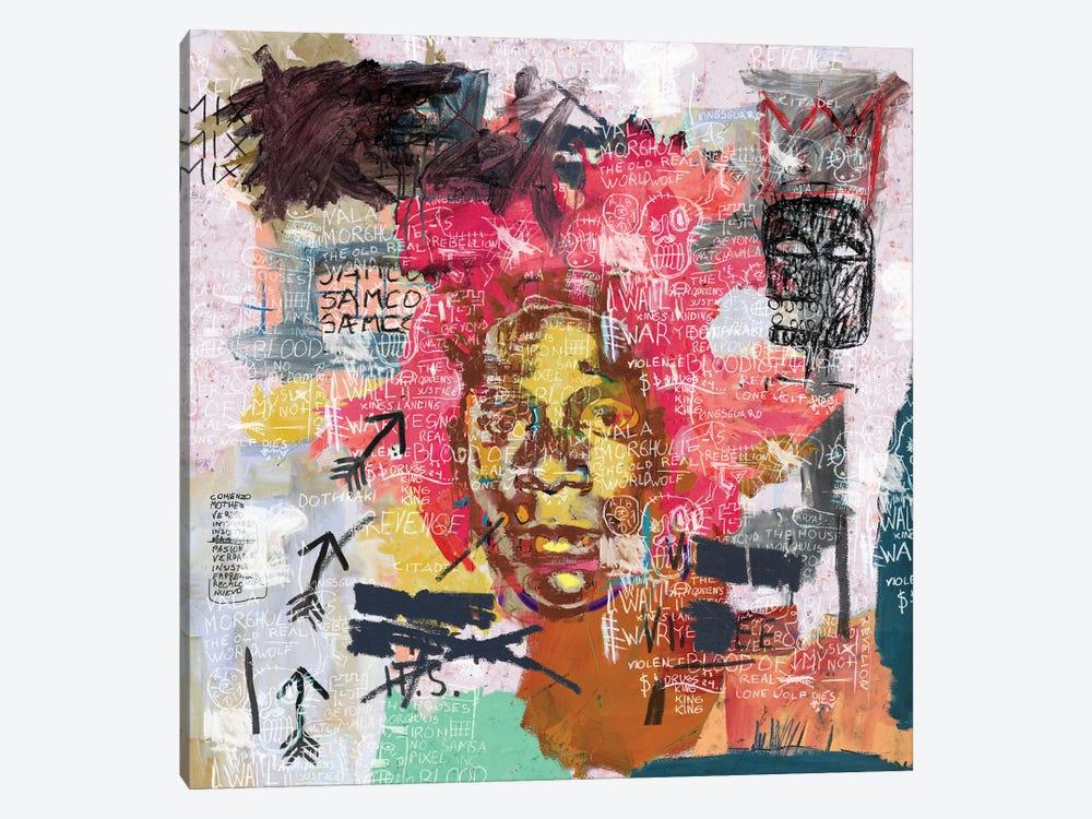 Jean-Michel Basquiat Portrait by PinkPankPunk 1-piece Canvas Artwork