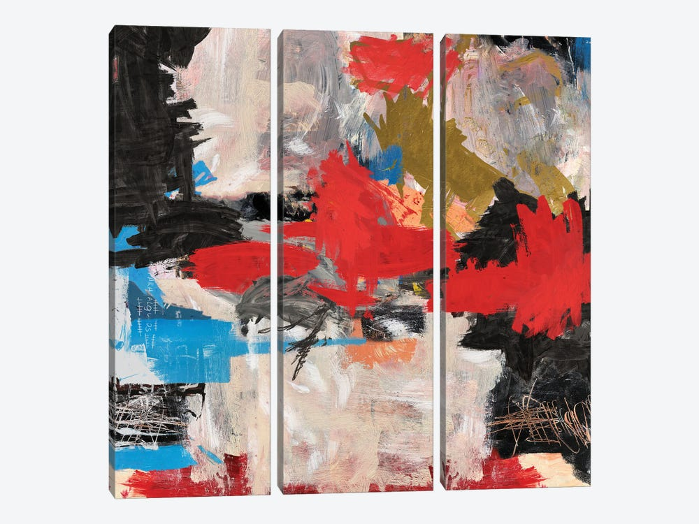 Abstract Expressionism Painting by PinkPankPunk 3-piece Canvas Art Print