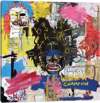 Portrait of Basquiat Canvas Art Print