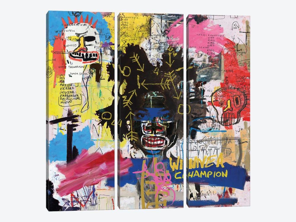 Portrait of Basquiat by PinkPankPunk 3-piece Canvas Artwork