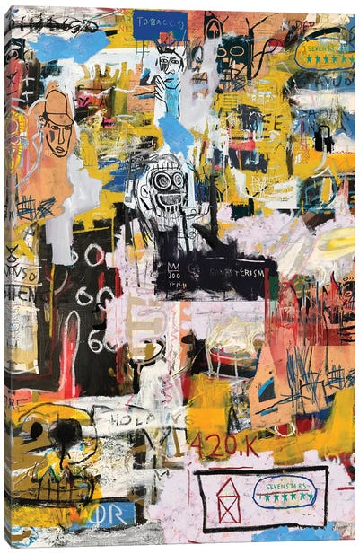 Basquiat World Canvas Art Print